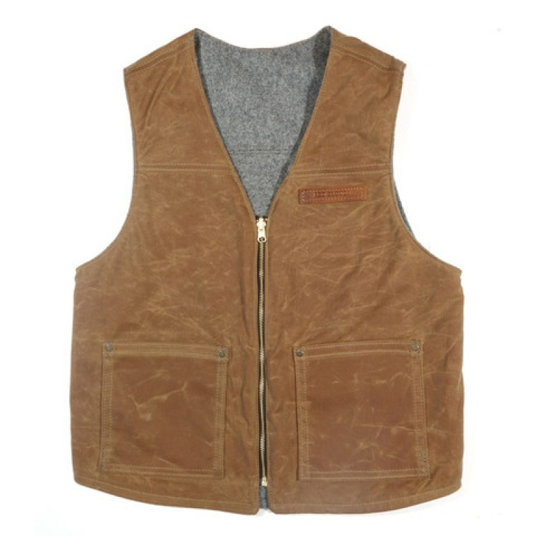 red clouds collective brush brown reversible vest