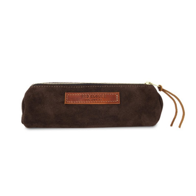 Images_Red Clouds Collective - round pencil case_brown