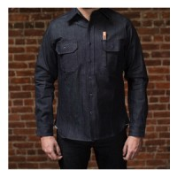 tellason clampdown denim shirt