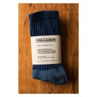 tellason indigo dyed crew socks