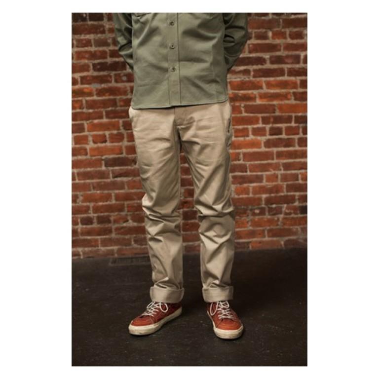 tellason straight leg army cloth canvas pants