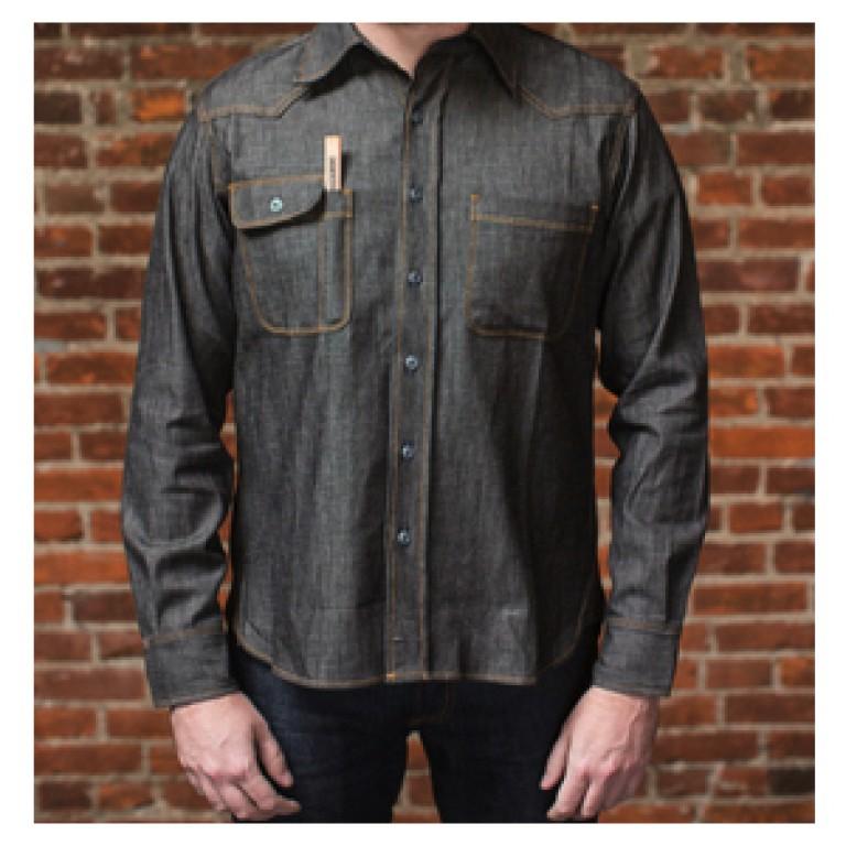 topper selvedge denim shirt