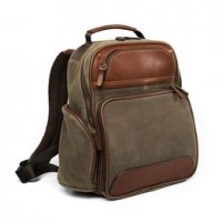 allen edmonds canvas leather backpack