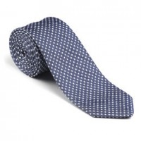 allen edmonds denim dot tie