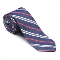 allen edmonds denim stripe tie