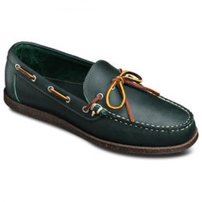 allen edmonds northland cap blue leather mocassin