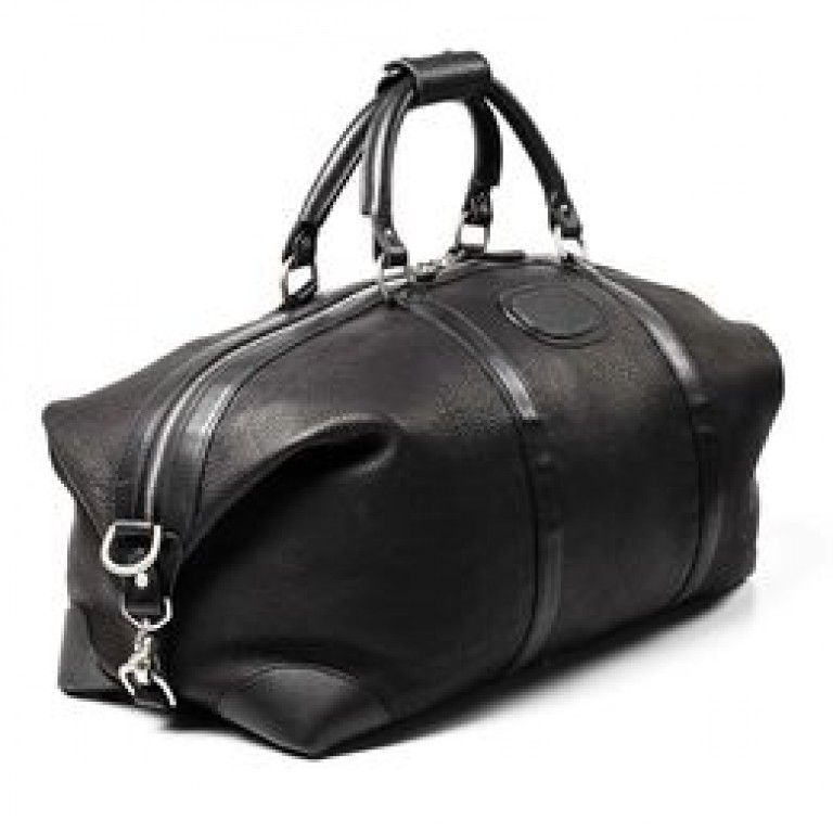 allen edmonds pebble grain black duffle bag