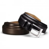 allen edmonds wide basic leather belt