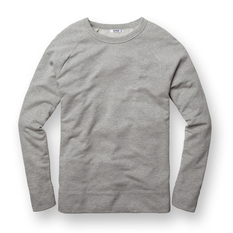 Buck Mason - Sweatshirts - Raglan Sweatshirt Heather Grey