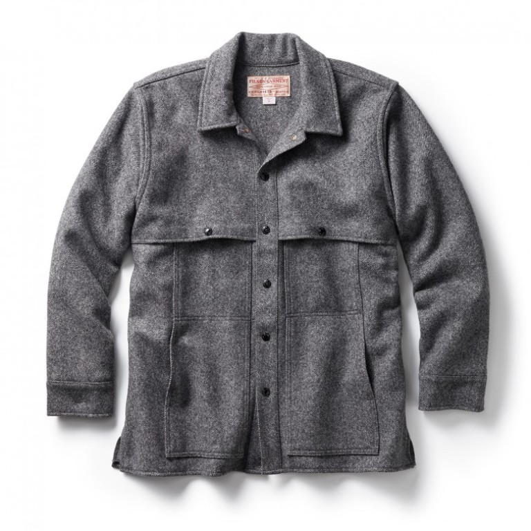 Filson - Coats & Jackets - Wool Cape Coat Gray