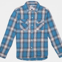 3Sixteen_Categories_Casual Button-Down Shirts_Images_Crosscut Flannel Teal 4.14.15