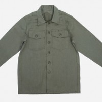 3Sixteen_Categories_Casual Button-Down Shirts_Images_Fatigue Overshirt Olive Herringbone Twill 4.14.15