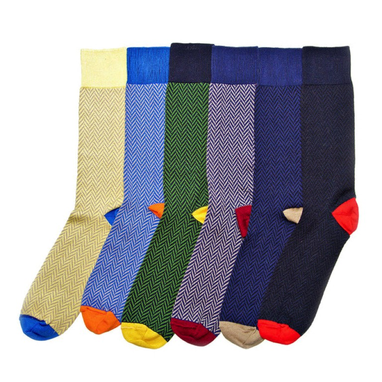 American Trench_Images_Pima Cotton Herringbone Socks - Assorted - 10.15.15
