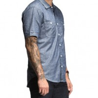 Bluer Denim_Categories_Casual Button-Down Shirts_Images_Chambray Short-Sleeve Work Shirt2 1.16.15