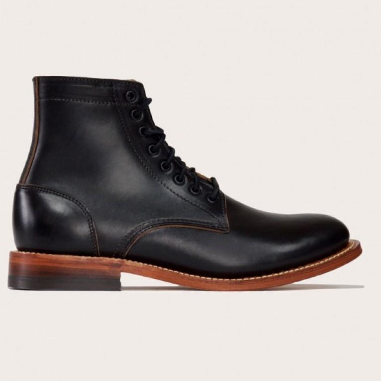 Oak Street Bootmakers - Boots - Black Oak Sole Trench Boot 1.26.16