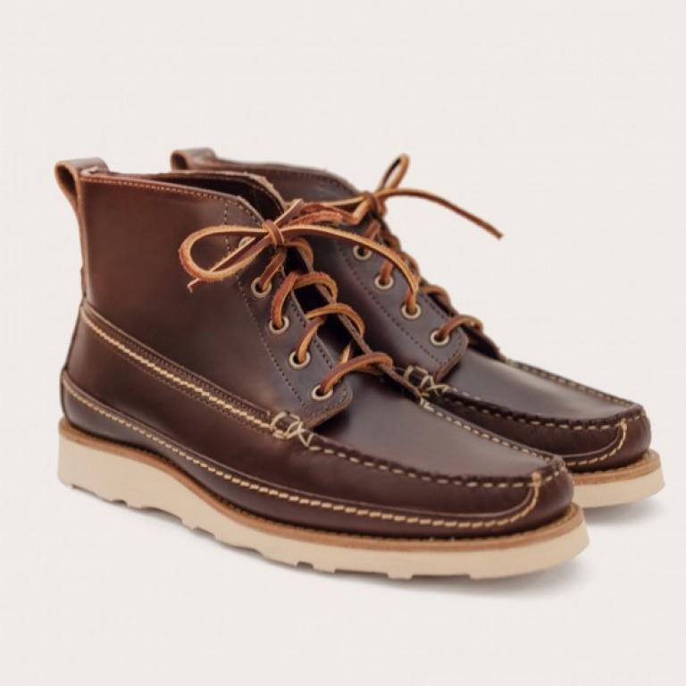 Oak Street Bootmakers - Boots - Brown Vibram Sole Camp Boot 1.26.16