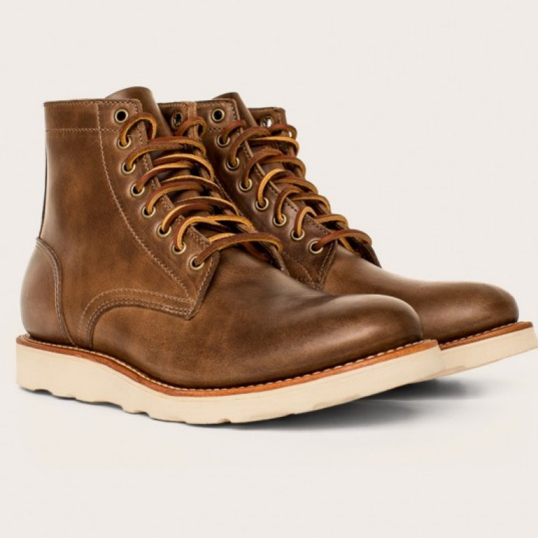 Oak Street Bootmakers - Boots - Natural Vibram Sole Trench Boot 1.26.16