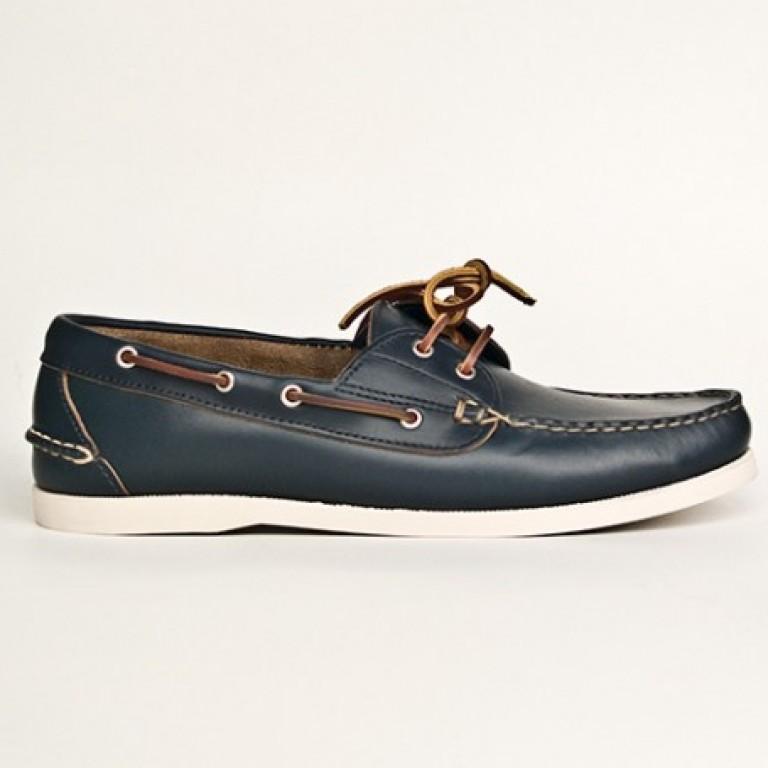 Oak Street Bootmakers - Casual Shoes - Navy Boat Shoe 1.26.15