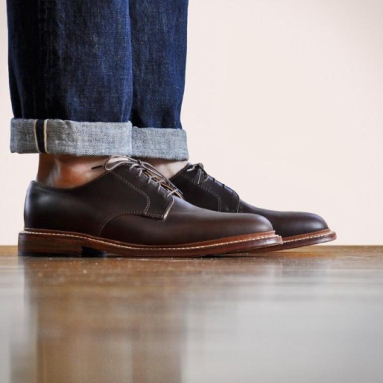 Oak Street Bootmakers - Dress Shoes - Brown Plain Toe Blucher 1.26.16
