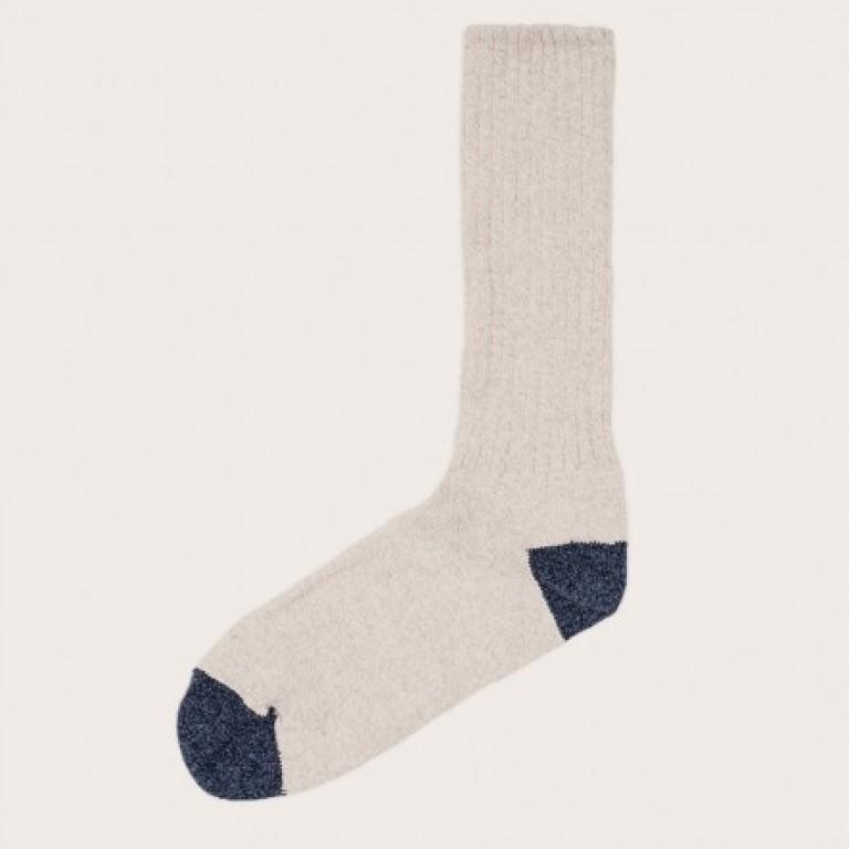 Oak Street Bootmakers - Underwear and Socks - Oat Indigo Trail Sock 1.26.16