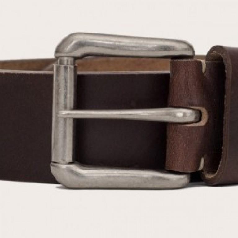 Oak Street Bootmakers_Categories_Belts and Suspenders_Images_brown roller buckle belt 4.19.15