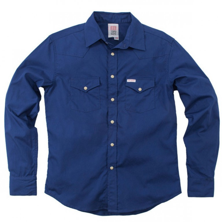 Topo Designs - Casual Button-Down Shirts - Western Shirt Navy