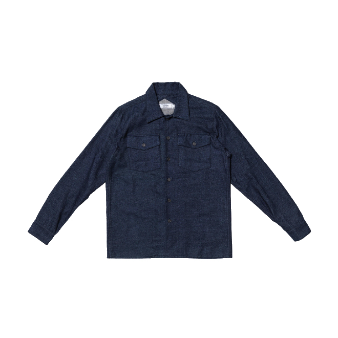 3sixteen - Casual Button-Down Shirts - Fatigue Overshirt Dark Indigo Flannel