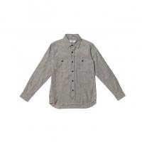 3sixteen - Casual Button-Down Shirts - Selvedge Chambray Workshirt - Grey Salt & Pepper