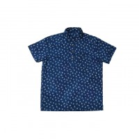 3sixteen - Casual Button-Down Shirts - Short Sleeve Popover Indigo Floral