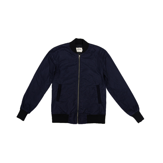 3sixteen - Coats and Jackets - Stadium Jacket Navy Waxed Canvas