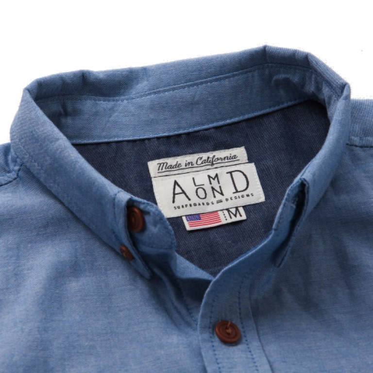 Almond Surfboards - Casual Button-Down Shirts - Low Tide SS Woven Indigo