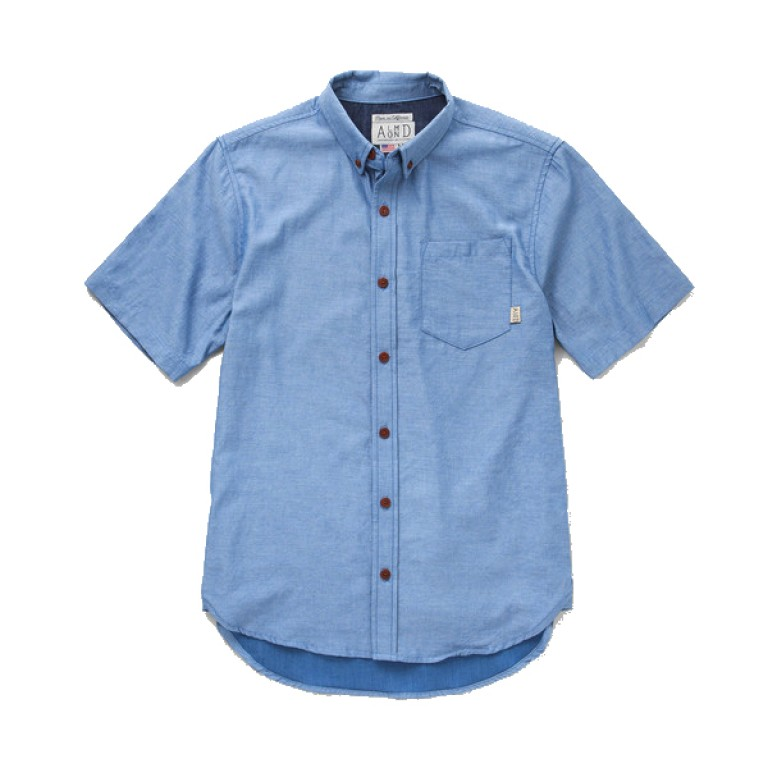 Almond Surfboards - Casual Button-Down Shirts - Low Tide SS Woven Indigo2
