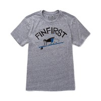 Almond Surfboards - T-Shirts - Fin First T-Shirt Blue