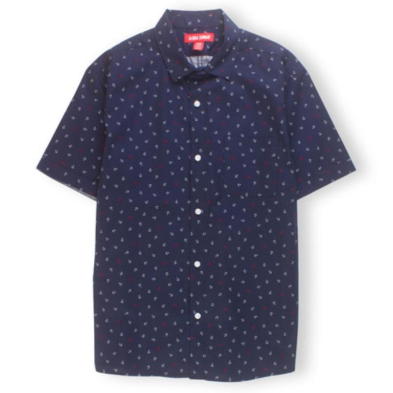 Aloha Sunday - Casual Button-Down Shirts - Glory Navy