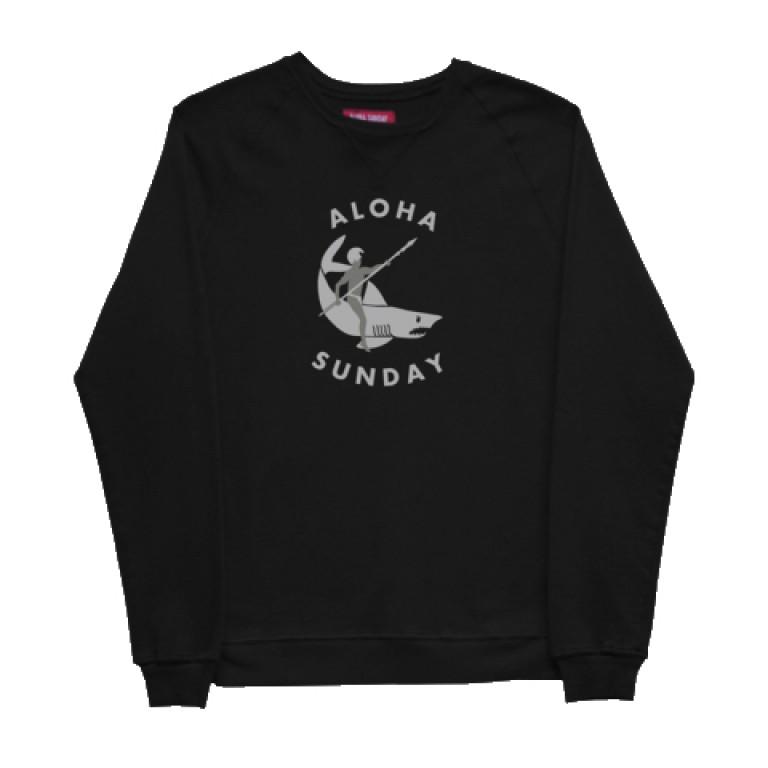 Aloha Sunday - Sweatshirts - Shark Rider Sweatshirt Black