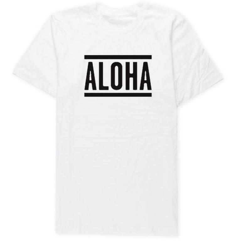 Aloha Sunday - T-Shirts - Lines White