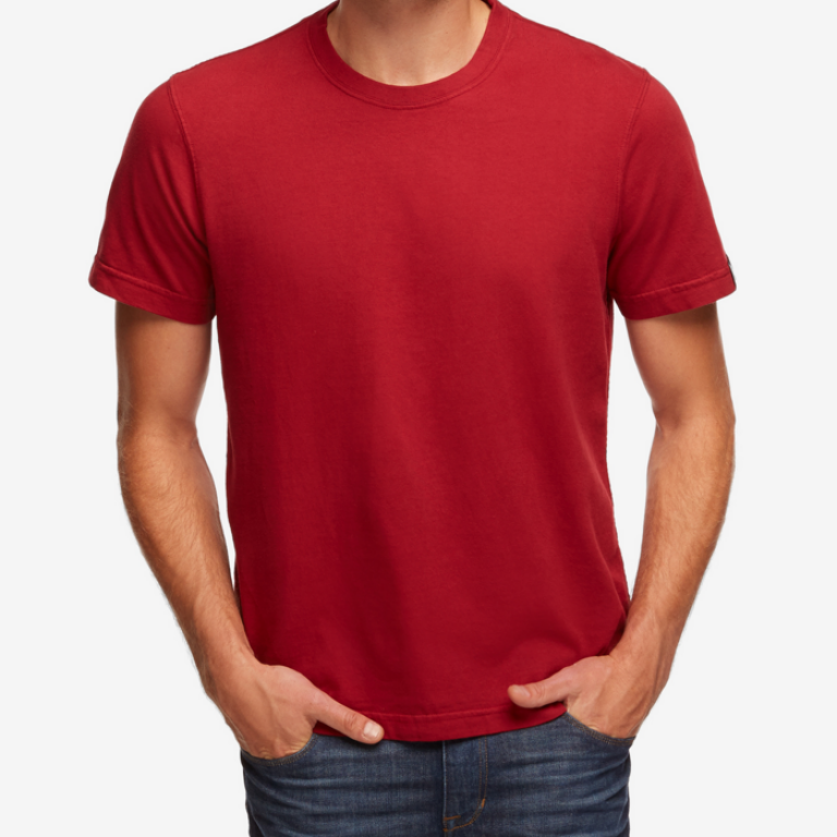 American Giant - T-Shirts - Heavyweight Crew T Athletic Red