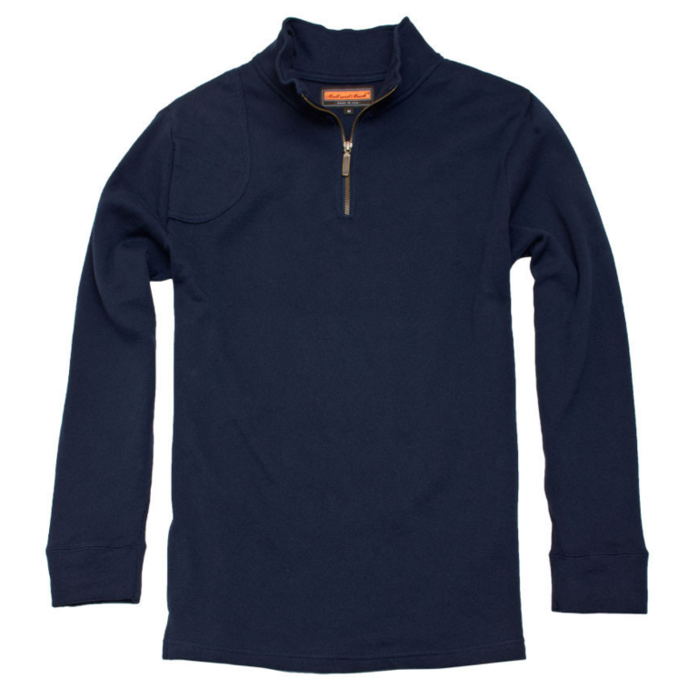 Ball and Buck - Sweaters -The-Cotton-Quarter-Zip-Pullover-Dark-Denim