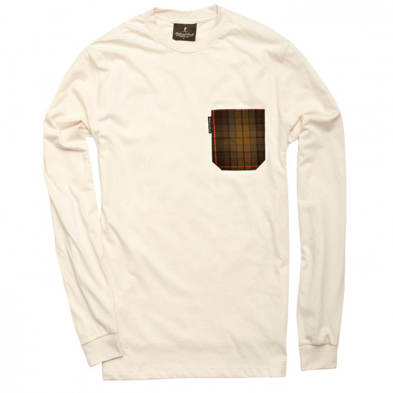 Ball and Buck - T-Shirts - The-5oz-Long-Sleeve-Pocket-Tee-Natural-Plaid