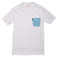 Ball and Buck - T-Shirts - The-5oz-Pocket-Tee-White-Billings-Check