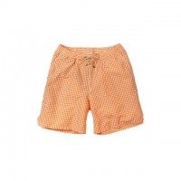 Bills Khakis - Swimwear - Bills Gingham Trunks Tangerine