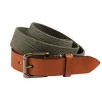 Bills Khakis_Categories_Belts and Suspenders_Images_Leather Tipped Canvas Belt Olive 4.26.15