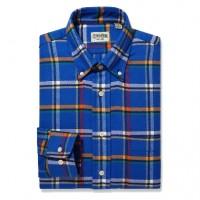 Gitman Bros - Casual Button-Down Shirts - Button Down Blue Flannel Plaid
