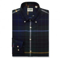 Gitman Bros - Casual Button-Down Shirts - Button Down Green Jumbo Plaid