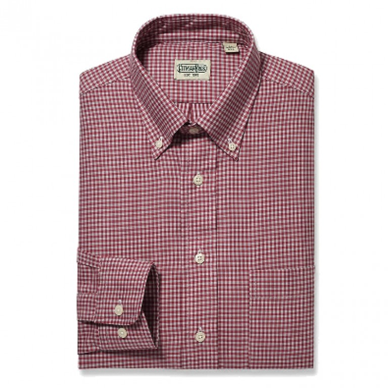 Gitman Bros - Casual Button-Down Shirts - Button Down Red Fall Gingham