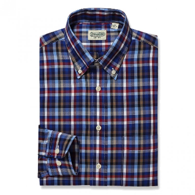 Gitman Bros - Casual Button-Down Shirts - Button Down Red Melange Check