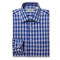 Gitman Bros - Casual Button-Down Shirts - Medium Spread Blue Twill Check