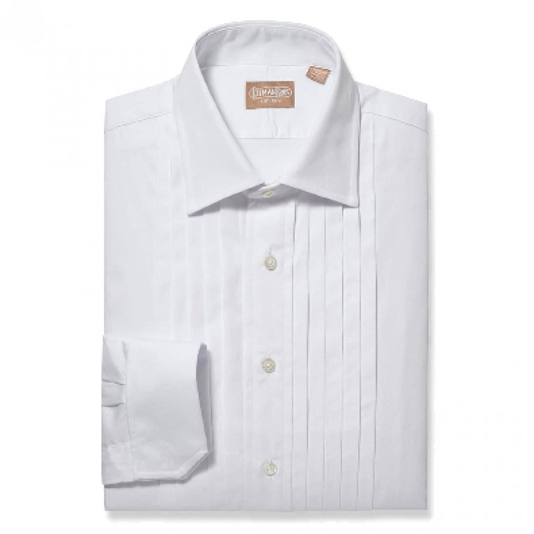 Gitman Bros - Dress Shirts - Five Pleat Tuxedo Shirt