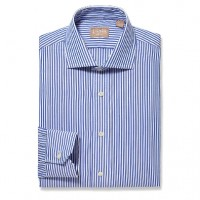 Gitman Bros - Dress Shirts - Widespread Bengal Stripe Blue