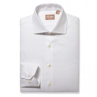 Gitman Bros - Dress Shirts - Widespread Covert Twill White